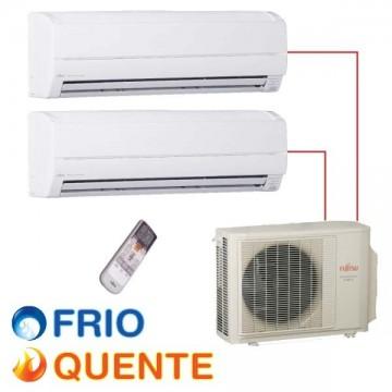 Ar Condicionado 14.000 BTU/h (1x 07.000 e 1x 12.000) FUJITSU INVERTER MULTI SPLIT - QUENTE/FRIO - 220V